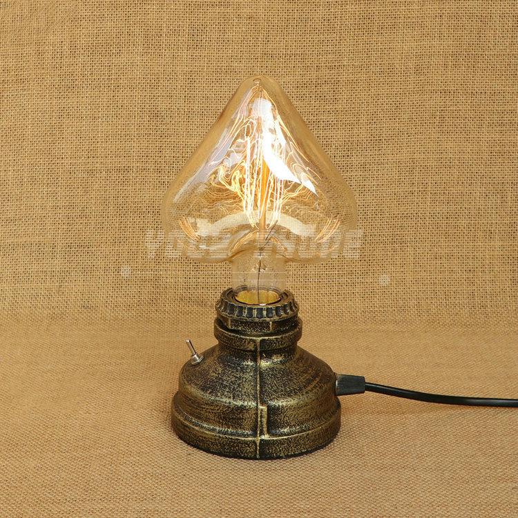 unique design American style lights industrial wind restoring ancient ways desk pipe decoration lamp