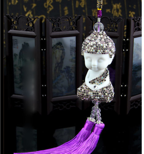 Auto Rearview mirror car ornament hanging Crystal accessories interior bling decoration Buddha Hanging Ornament