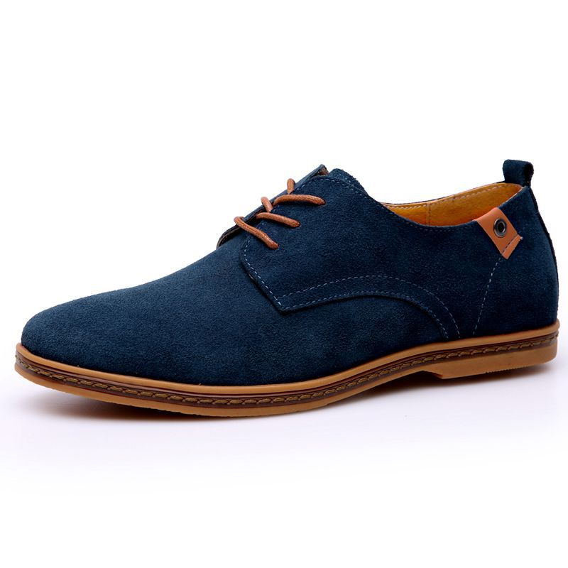 New Sping Autumn Men Oxfords Shoes Faux Suede Casual Men Causal Shoes Lace Up Comfort Men Loafers Shoes hand made genuine leather men shoes new 2016 spring autumn flat men shoes lace up loafers shoes oxfords for men zapatos hombre