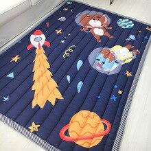 Детские игровые коврики 200*150 см, хлопок, квадратные игрушки, ковры, детские игровые коврики, коврики для ползания, Мультяшные коврики для спальни, коврики для пикника