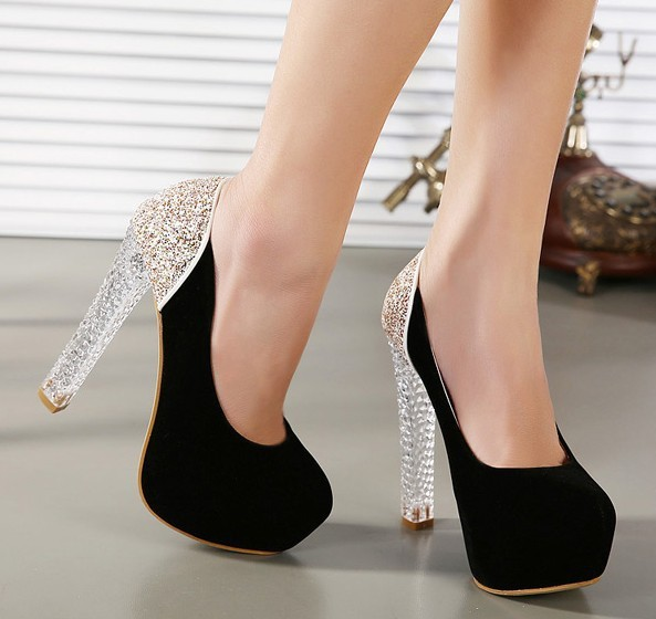 Sexy High Heels Crystal Shoes