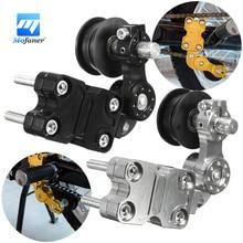 Negro Plata Rodillo Tensor Tensor de La Cadena de Aluminio Universal Para La Motocicleta Chopper/ATV