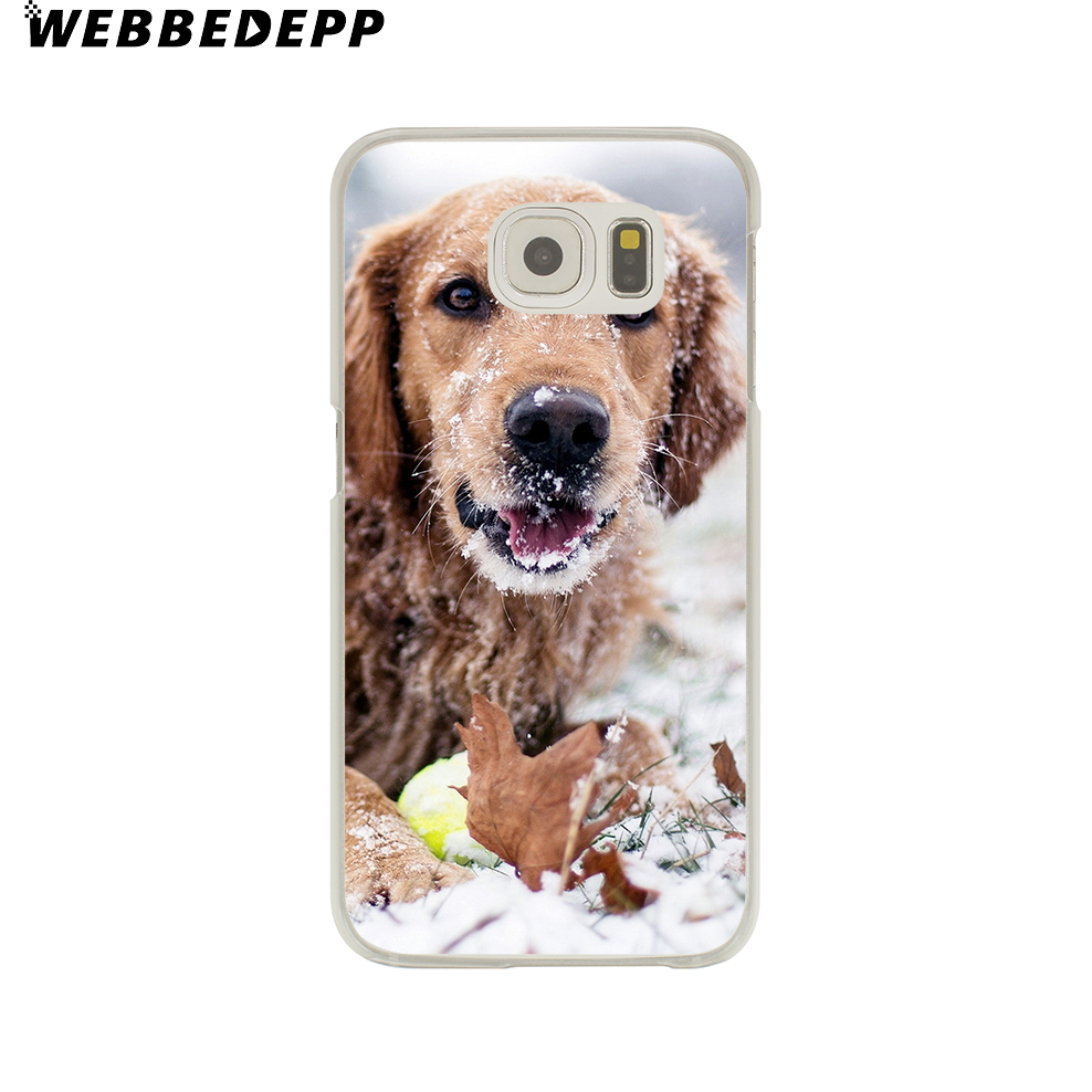 WEBBEDEPP Golden Retriever dog Case for Samsung Galaxy S9 S8 Plus S7 S6 Edge Plus S5 S4 S3