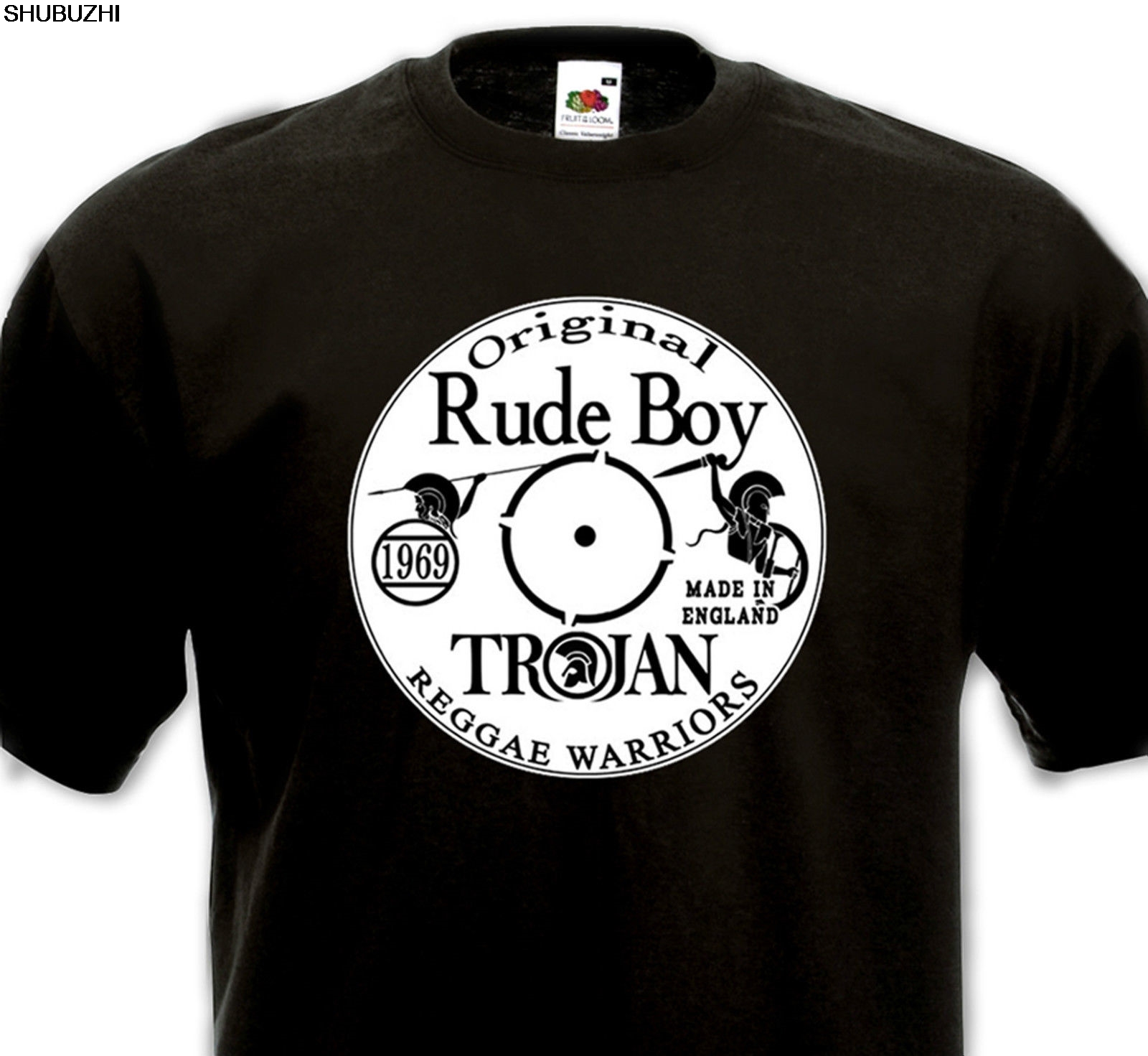 Laurel Aitken SKA 2 tone t shirt Original Rude Boy MODS Godfather Scooter vespa