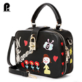 Pacento 2017 New design women casual cartoon handbag purse women clutch shoulder messenger crossbody bags phone case sac a main