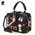 Pacento 2017 New design women casual cartoon handbag purse women clutch shoulder messenger crossbody bags phone case sac a main