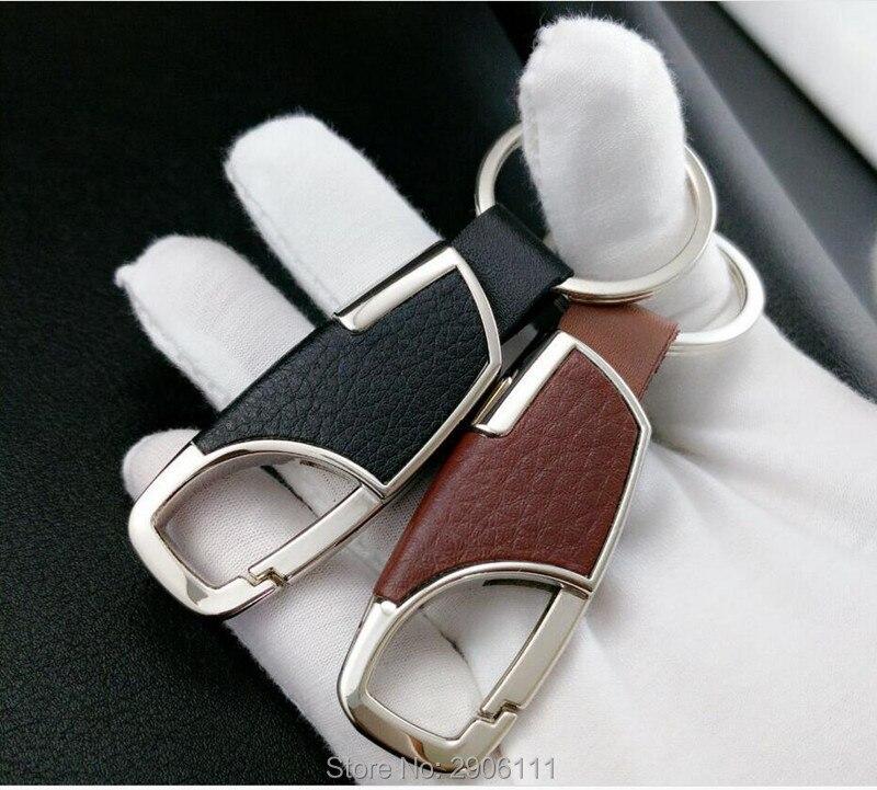 car styling Leather Key Chain Metal Car Key Ring Multifunctional Tool Key Holder for Audi a4 a3 q5 q7 a5 b6 b8 a6 c5 b7 c6