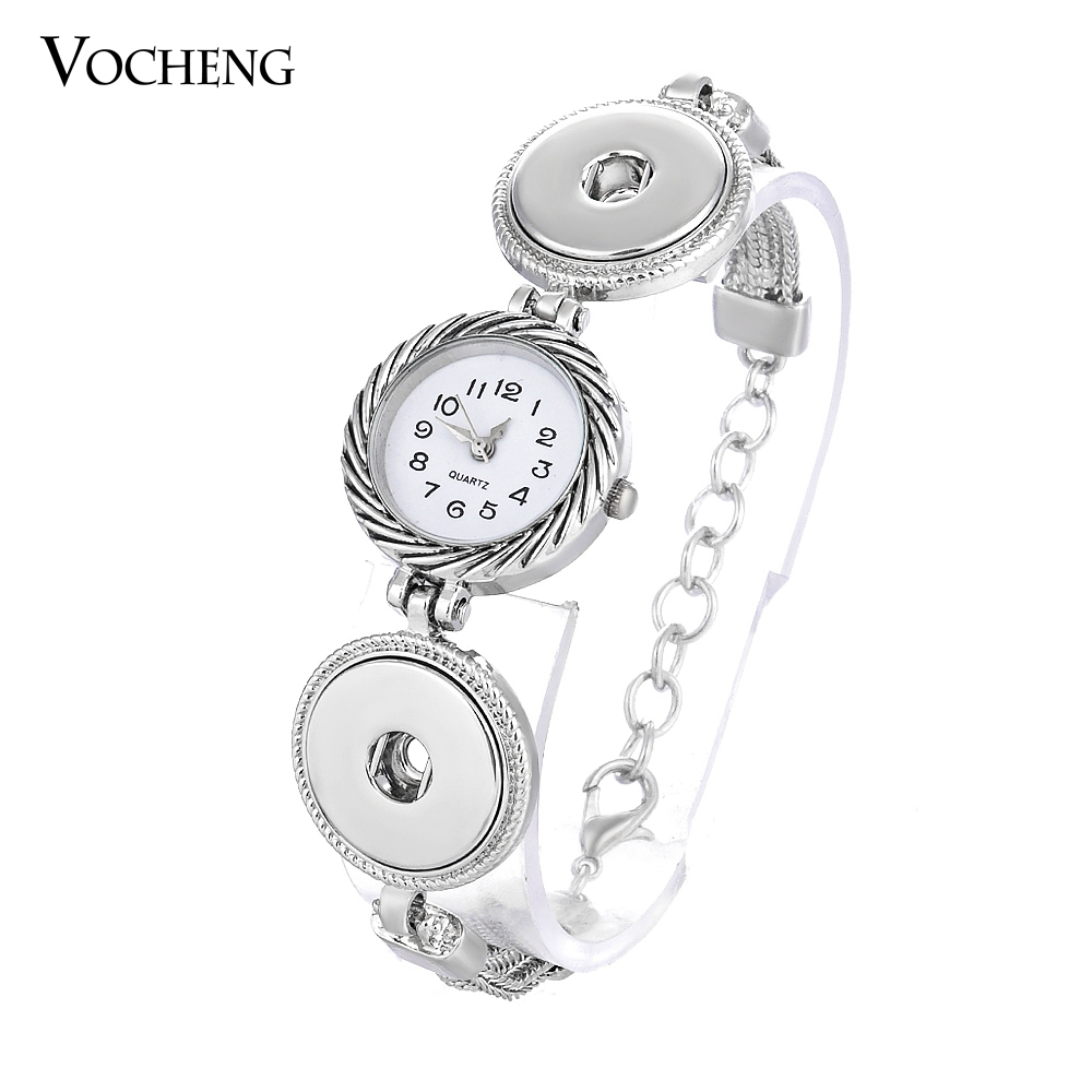 10pcs/lot Vocheng Ginger Snap Button Watch Bracelet 2 Styles 18mm Jewelry NN-322*10 Free Shipping