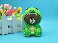 New bear Cartoon Cute 4000mah Power Bank External Universal Battery Charger Powerbank for iphone7 8 plus  samsung s8 s8 plus