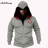 2016 Mens Assassins Creed Hoodies Sweatshirt Hombre Autumn Winter Fashion Cosplay Chadal Cool Clothes Plus Size