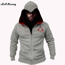 Fashion Men Assassins Creed Hooded Sweatshirt Hombre Autumn Winter Solid Hoodie Sweatshirts Men Cosplay Chadal Cool Clothing 3XL