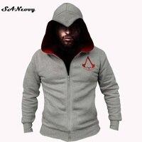 Moda Assassins Creed Homens Moletom Com Capuz Camisolas Do Hoodie Homens Hombre Outono Inverno Sólidos Cosplay Chadal Legal Roupas 3XL