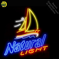 NATURAL LIGHT Neon Sign neon bulb Sign Boat Neon light Sign glass Tube Beer Handcraft Commercial Iconic Sign Neon Bulbs lights