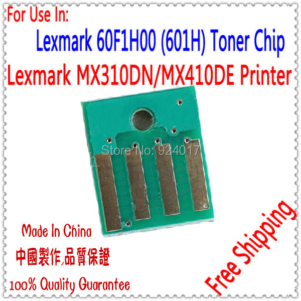 Compatible Lexmark MX310DN Toner Chip,Reset Toner Chip For Lexmark MX410DE Printer,For Lexmark MX310 MX410 Toner Refill Chip,10K