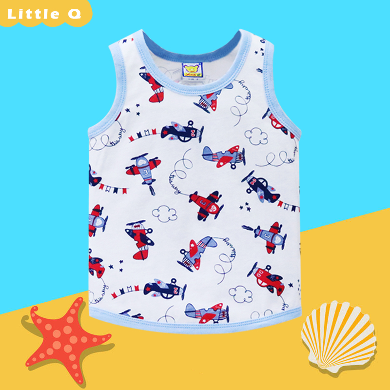 BABY UNDERWEAR BOYS UNDERSHIRTS PURE COTTON CHILDREN CLOTHING LOW PRICE NEW PROMOTION 2019