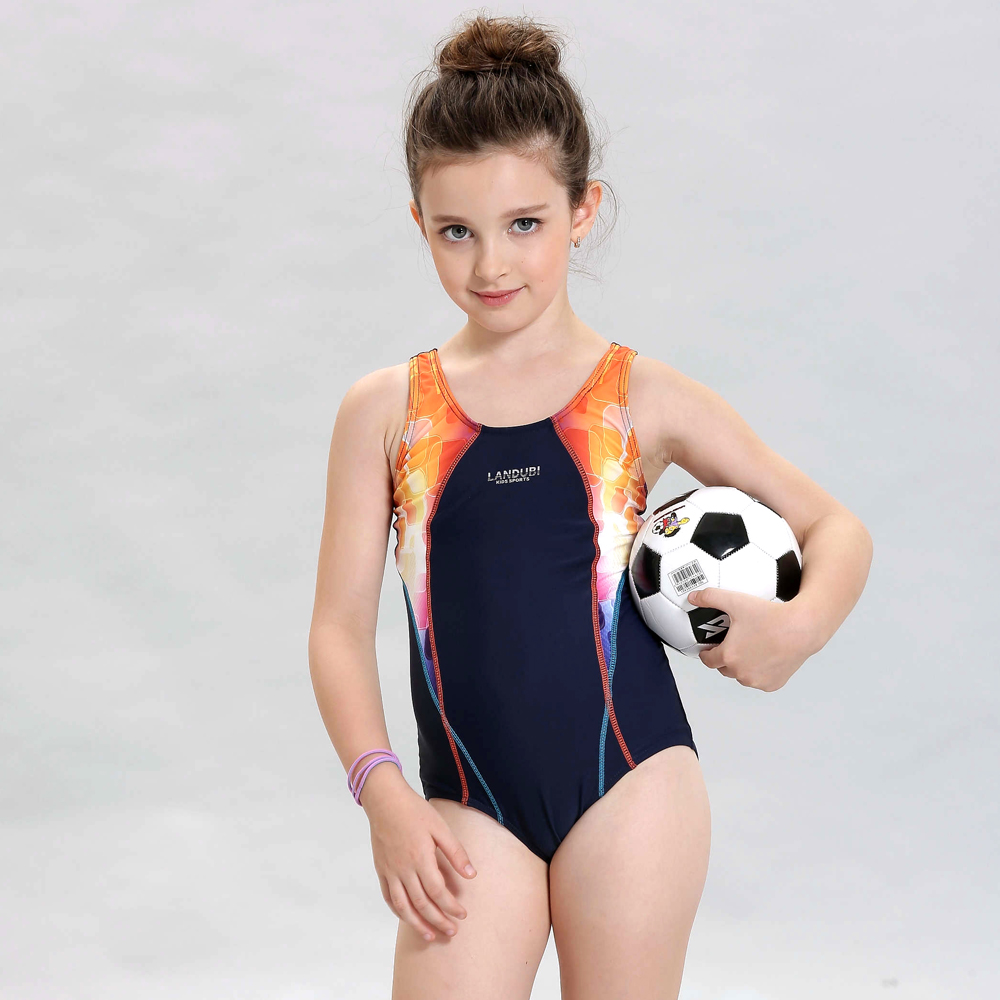 LANDUBI Little//Big Girl Swimsuit One-Piece Elsa Anna Swim Skirt Summer Beach wear
