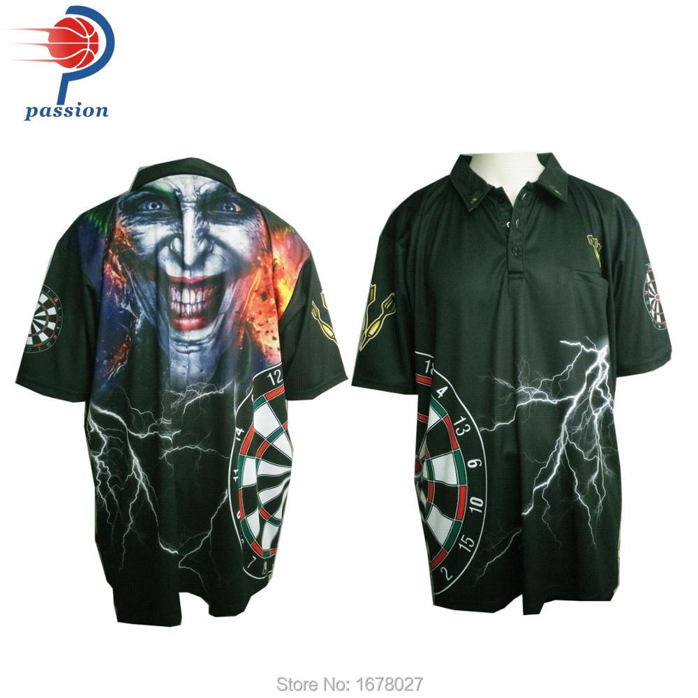 info for 62664 5b807 US $250.0 |3 buttons up Cool Design Black Lightening Joker Dart Shirts-in  Trainning & Exercise Polo from Sports & Entertainment on Aliexpress.com |  ...