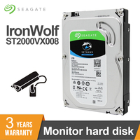 Seagate 2TB SATA 3.5 inch Video Surveillance HDD Internal Hard Disk Drive 5900 RPM 6Gb/s 64MB Cache HDD For Security ST2000VX008