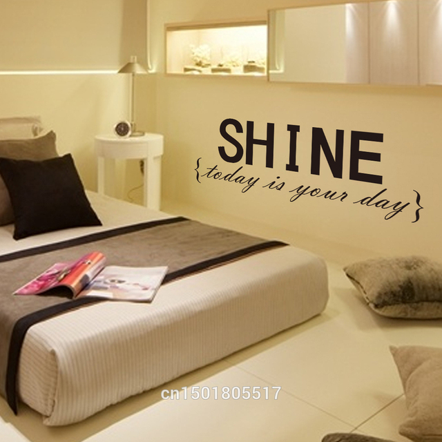 Creative SHINE Letters Decorations Vinyl Wall Lettering For Walls ...