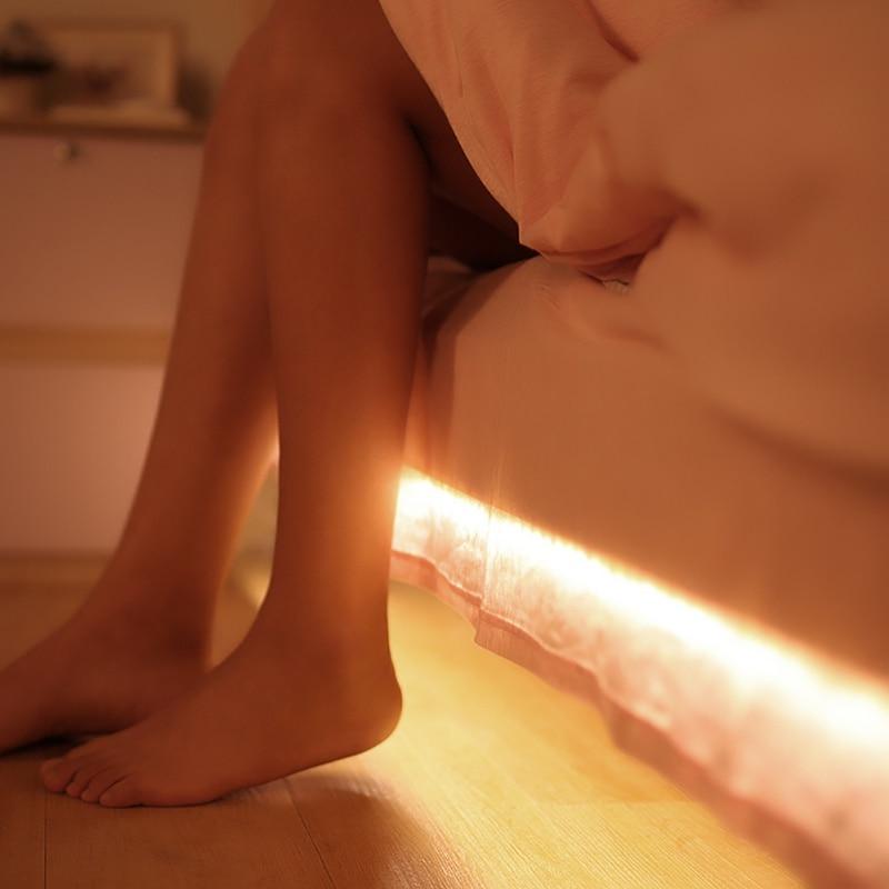 Smart Motion Sensor PIR Human Body Sensor LED Bed Lights for Single Bed or Baby bed in Hotel Bedrooms