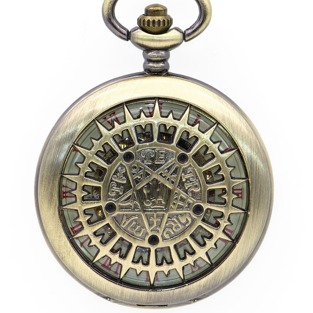 Bronze Retro Star Carving Pocket Watches Man Woman Casual Fob Watches Steampunk Mechanical Analog Pocket Watches For Gift