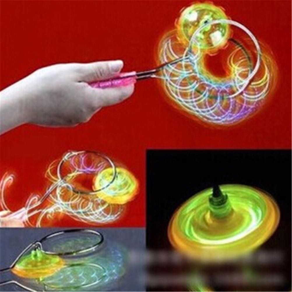 1 Stück Bunte Led Spinning Top Magnetische Gyro Rad Track Spielzeug Flitter Glanz Spinning Spielzeug Kinder Geschenk 2019 New Fashion Style Online