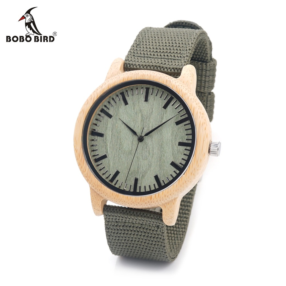 BOBO BIRD CaD11 Nylon Straps Bamboo Wood Watches Wooden Dial Face Japan Movement Quartz Watch for Women Men OEM Dropshipping plus size backless one piece swimsuit