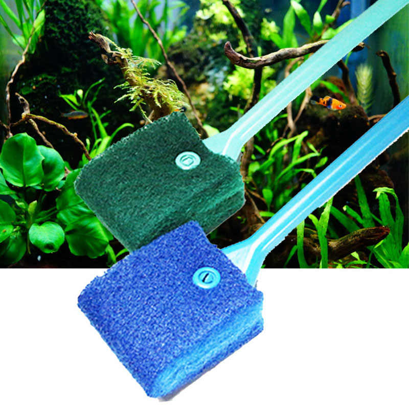 2 Head Cleaning Brush 40cm Practical Low Price New Aquarium Fish Tank Algae Cleaner Glass Scraper Brush Plant Easy