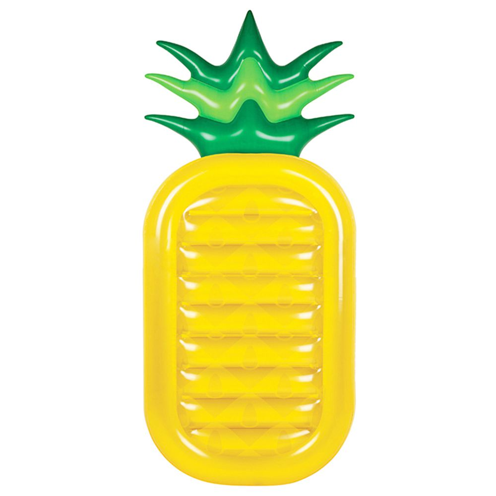 Inflatable Pineapple Giant Pool Float Toys Swimming Ring Swimming Circle Beach Inflatable Mattress Sea Party yellow