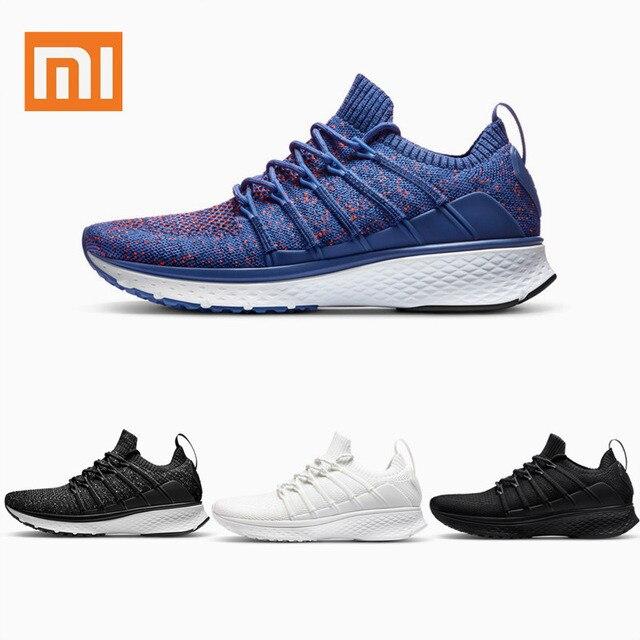 Original Xiaomi Mijia 2 Sneaker Men Running Shoes Fishbone Lock Design Uni-Moulding Techinique Elastic Knitting Vamp