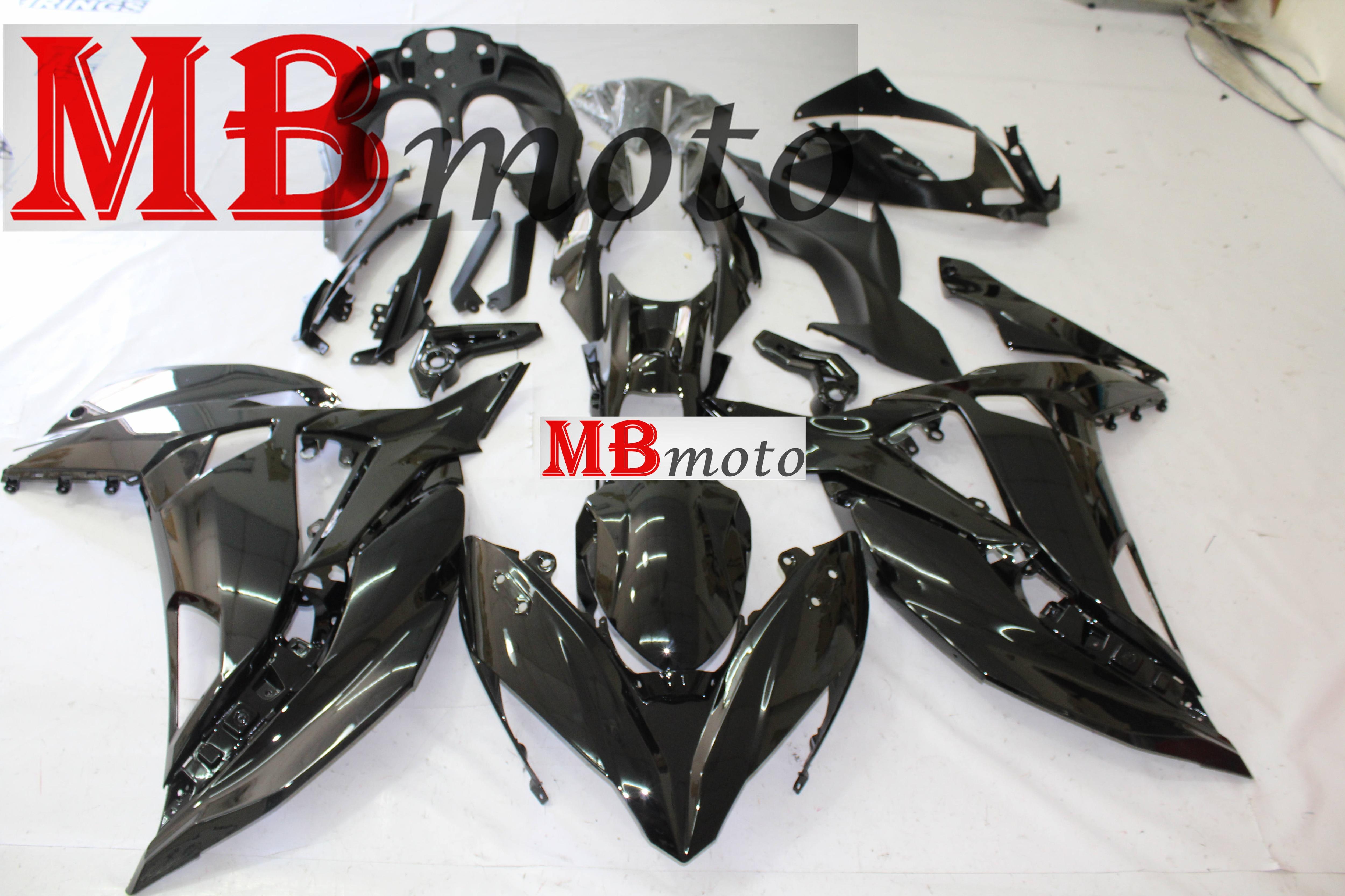 Выполните Обтекатели; обувь для езды на мотоцикле Kawasaki ER6F 2017 2018 2019 ниндзя 650 2017 2018 2019 обтекатели комплект хорошая ВПРЫСКА Черный