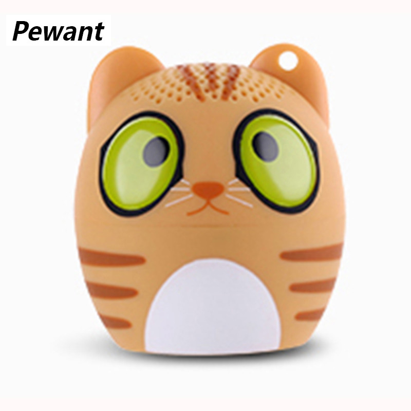 Pewant Mini Cute Bluetooth Speaker Wireless Connect Soundbar Support Self Timer Handfree Loudspeaker For Android iOS Phone