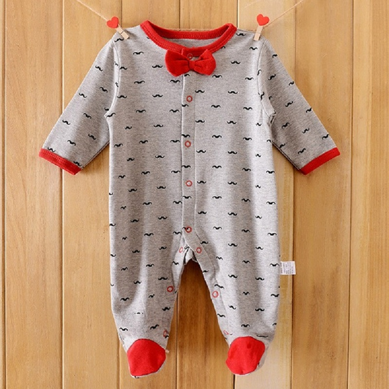 baby romper Payifang baby boys pajamas rompers one-piece baby girls bag feet Jumpsuit romper 100% Cotton