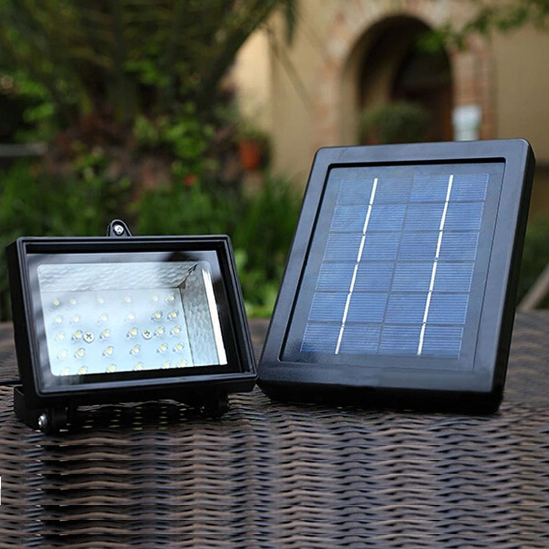 Energy Saving Solar Power Panel 30 Led Solar Flood Light Outdoor Sport Yard Sidewalk Fence Path