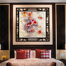 DIY 5D Two Fish Embroidery Diamond Painting Cross Stitch Kits Home Wall Decor#T025#