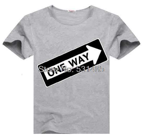 One Way Tee One Way Sign  Construction t shirt for toddler kids children boy girl cartoon t-shirt