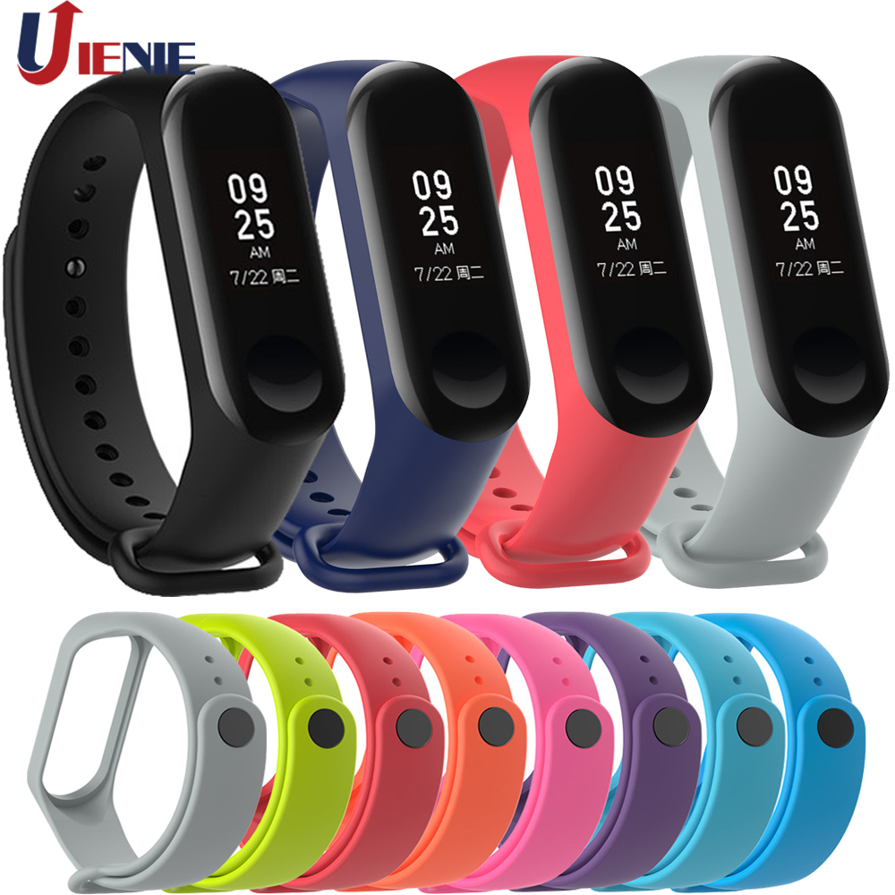 Miband 3 4 Strap Mi Band 3 Watchband Accessories Replacement Silicone Colorful Wrist Strap For Xiaomi Mi 4 Smart Bracelets