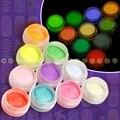 10 unids de Fluorescencia de Neón de Color de La Mezcla Polvo de Acrílico Del Clavo Para El Arte Del Clavo Envío Libre NA832