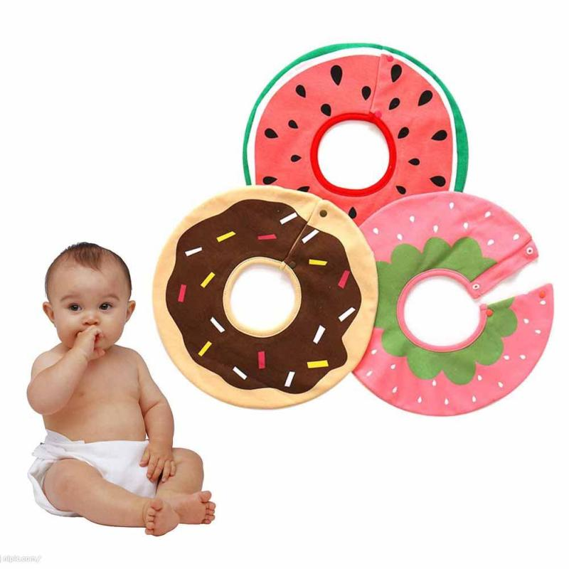360 degree rotatable Newborn Baby Bibs Cotton Waterproof infant toddler Saliva Towel Aprons Baby Feeding Accessories R2-16H