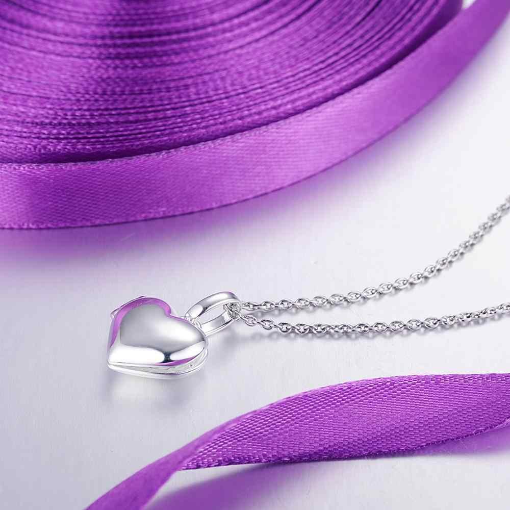 SANTUZZA Silber Herz Anhänger Fit für Halskette Armband Foto medaillon Reinem 925 Sterling Silber Damen Party Mode Schmuck