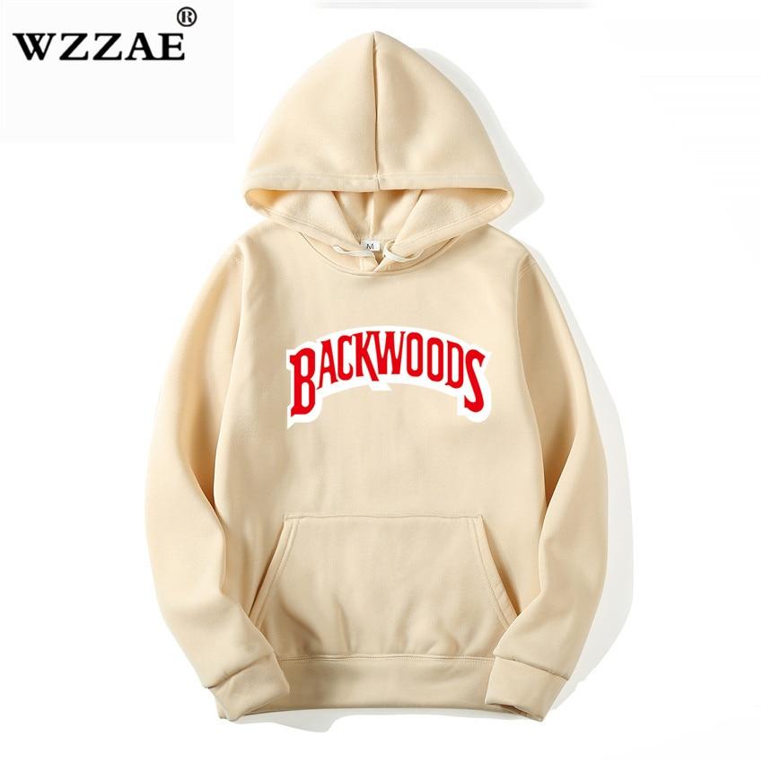 The screw thread cuff Hoodies Streetwear Backwoods Hoodie Sweatshirt Men Fashion autumn winter Hip Hop hoodie pullover Hoody 2