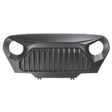 For Jeep Wrangler TJ Front Grille Mesh Grill 1997 1998 1999 2000 2001 2002  2003 2004 2005 2006 Auto Accessories Matte Black ABS