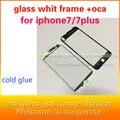 10 pcs de vidro Painel Frontal do Quadro whit whit oca para iPhone6 6 s 6 splus LCD Habitação Quadro Do Meio Frio cola atualização quadro