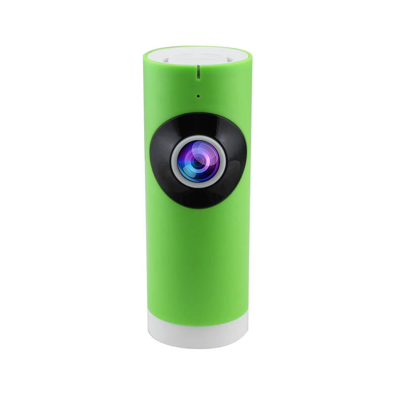 JMAV 720P Mini Wireless IP Camera,180 Degree Fisheye HD WiFi Camera for Home Security / Baby Monitoring / Plug & Play / Green