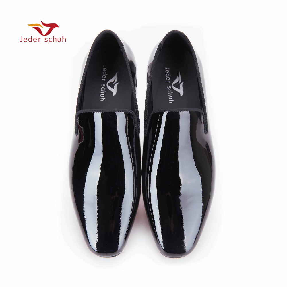New arrival Men black Patent Leather shoes Party and Wedding men dress shoes luxurious Handmade men loafers male's flats men loafers paint and rivet design simple eye catching is your good choice in party time wedding and party shoes men flats