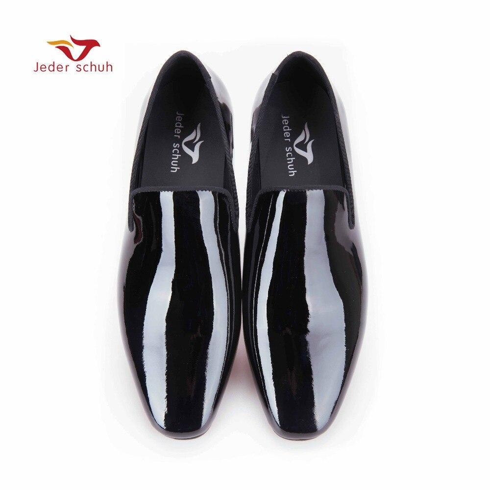 Nuovi Uomini di arrivo In Vernice nera scarpe Partito e la Cerimonia Nuziale uomini scarpe da sera Fatti A Mano di lusso degli uomini appartamenti delle mocassini maschili