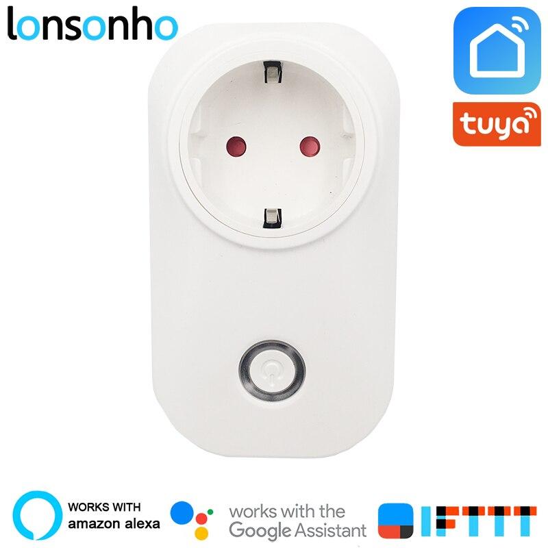 Lonsonho Smart Plug Wifi Smart Socket 16A 3520W Power Monitor Energy Saver EU AU UK Brasil Israel Chile Plug Tuya Smart Life App