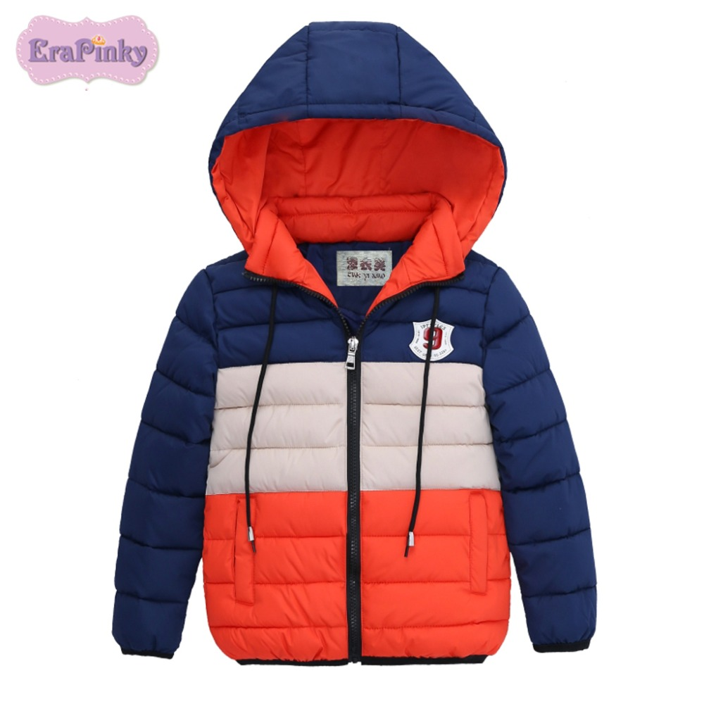 Erapinky 2018 Fashion Striped Kids Toddler Boys Jacket Coat For Children Outerwear Clothing Winter Warm Boy Cotton Clothes boys lamb wool jacket coats winter boy coat children fashion outerwear kids clothes boutique clothing