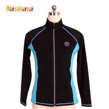 Customized Figure Skating Jacket Zippered Tops for Girl Women Training Competition Patinaje Ice Skating Warm Fleece Gymnastic 41
