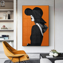 Modern Wall Charts Ladies Portrait Fashion Poster Large Pictures Canvas Decorative Paintings for Living Room On The